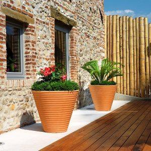 XL Terracotta garden pots