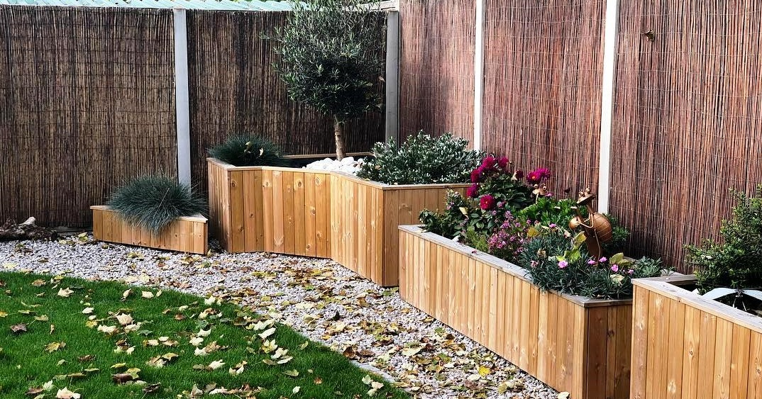 Custom made wooden planters for your home and garden