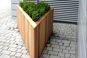 Custom triangular shaped garden planter