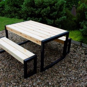 Contemporary Bench& Table