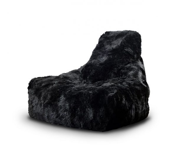 black fur bean bag